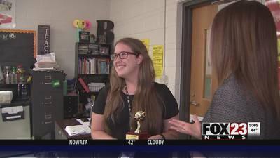 Rebecca Brooks is this week's Golden Apple teacher award winner
