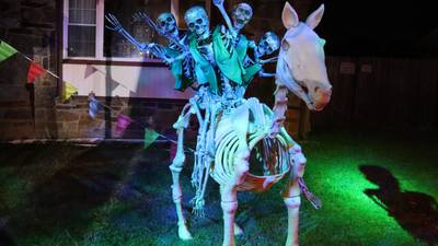 Photos: Muskogee man creates massive Halloween display in his yard
