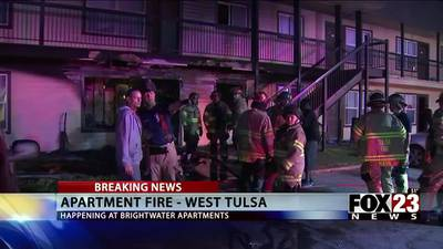 Three people in the hospital after west Tulsa apartment fire