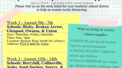 Tulsa non-profit organization distributes school supplies to families