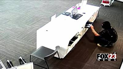 Tulsa Police are searching for the person who broke into a T-Mobile store Wednesday morning