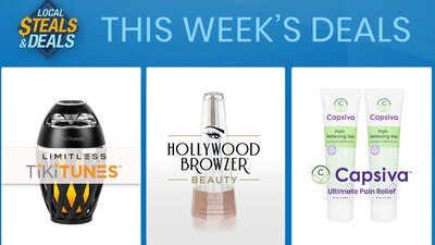 Local Steals and Deals: Save on top sellers Capsiva, Hollywood Browzer Beauty and TikiTunes