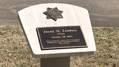 Memorial unveiled for Tulsa officer who died following a battle with COVID-19