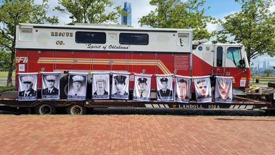 """Historic fire truck, """"Spirit of Oklahoma,"""" returns home to be restored, honor 9/11 first responders"""