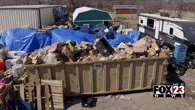 VIDEO: Nonprofit that left piles of rotting food in north Tulsa does it again in Pawnee County