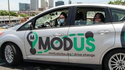 Modus celebrates 10,000th ride, helps Tulsans in need