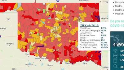 New coronavirus map tracks percentage of people vaccinated