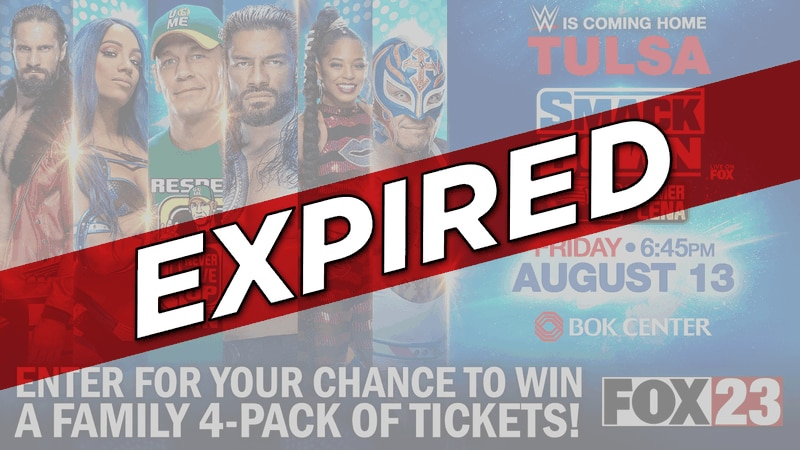 FOX23 WWE Smackdown Giveaway EXPIRED