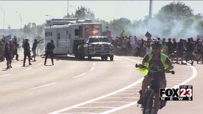 Oklahoma legislature passes bill protecting drivers who hit protesters, sending to Stitt's desk