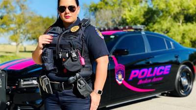 Photos: Broken Arrow PD unveils pink cruiser for Breast Cancer Awareness Month