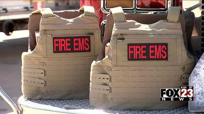 VIDEO: Tulsa Fire Department receives body armor donations