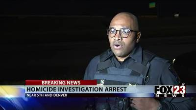 VIDEO: Tulsa police arrest suspect in connection with a homicide after a stand off in downtown Tulsa