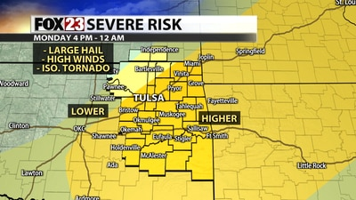 Severe storms possible Monday evening