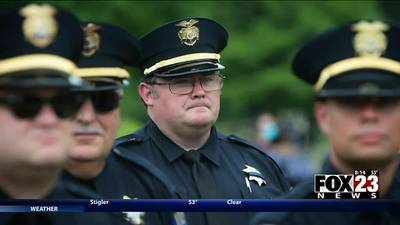 VIDEO: Memorial held for Tulsa police officer who died after COVID-19 diagnosis