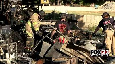 BREAKING: Firefighters respond to a mobile home fire in north Tulsa