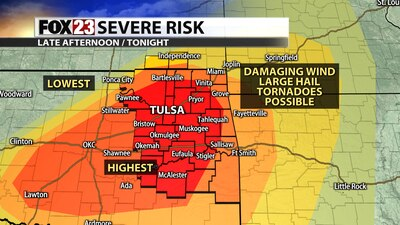 Tornado Watch issued for parts of Green Country tonight