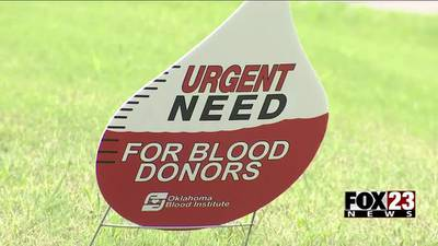 Oklahoma Blood Institute desperate for donors ahead of the 4th of July