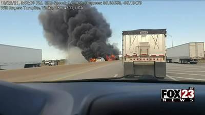 No injuries reported after semi-truck crash near Vinita
