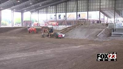 VIDEO: Construction continues on new BMX Headquarters in Tulsa