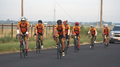 California firefighters bike through America for 9/11, stop in Tulsa